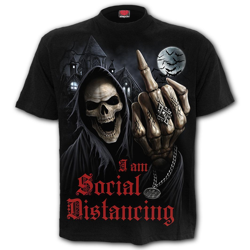 Social Distancing Men's Black T-Shirt
