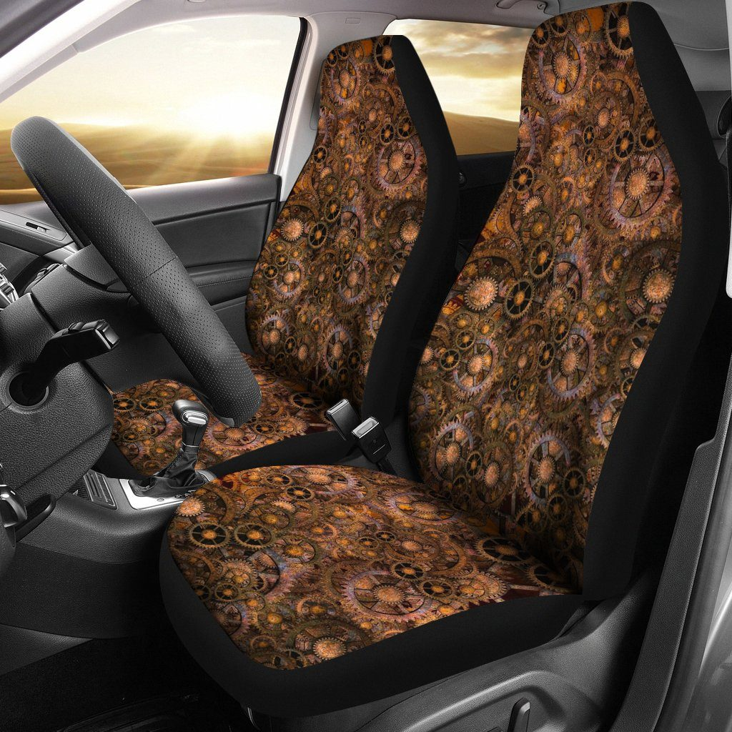 Steampunk Geared Out Car Seat Covers