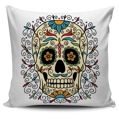 Sugar Skull Pillow Cover - Rebels Depot
