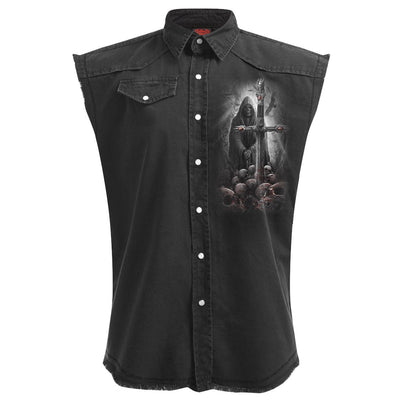 Reflecting Reaper Men's Black Sleeveless Shirt - Rebels Depot
