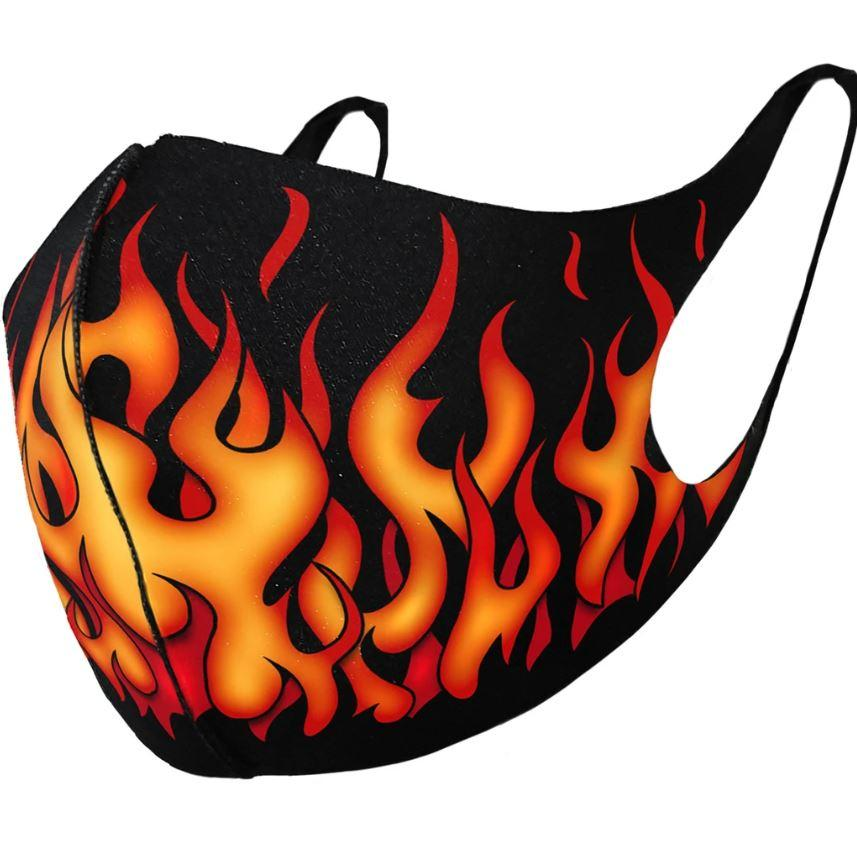 Tribal Flames Gothic Reusable Face Mask - Rebels Depot