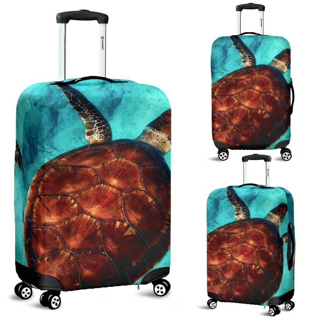 Sea Turtle Luggage Cover