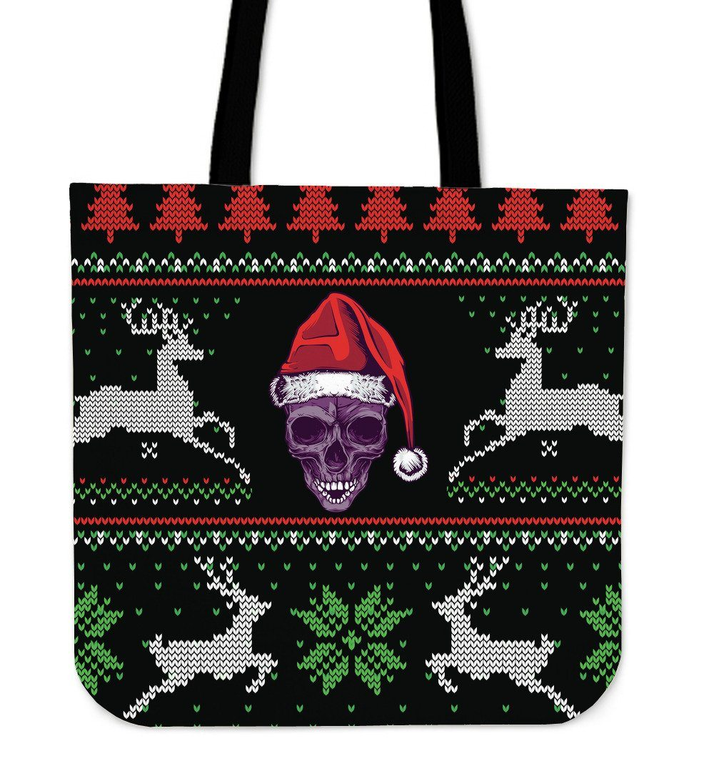 Xmas Santa Skull Cloth Tote Bag - Rebels Depot
