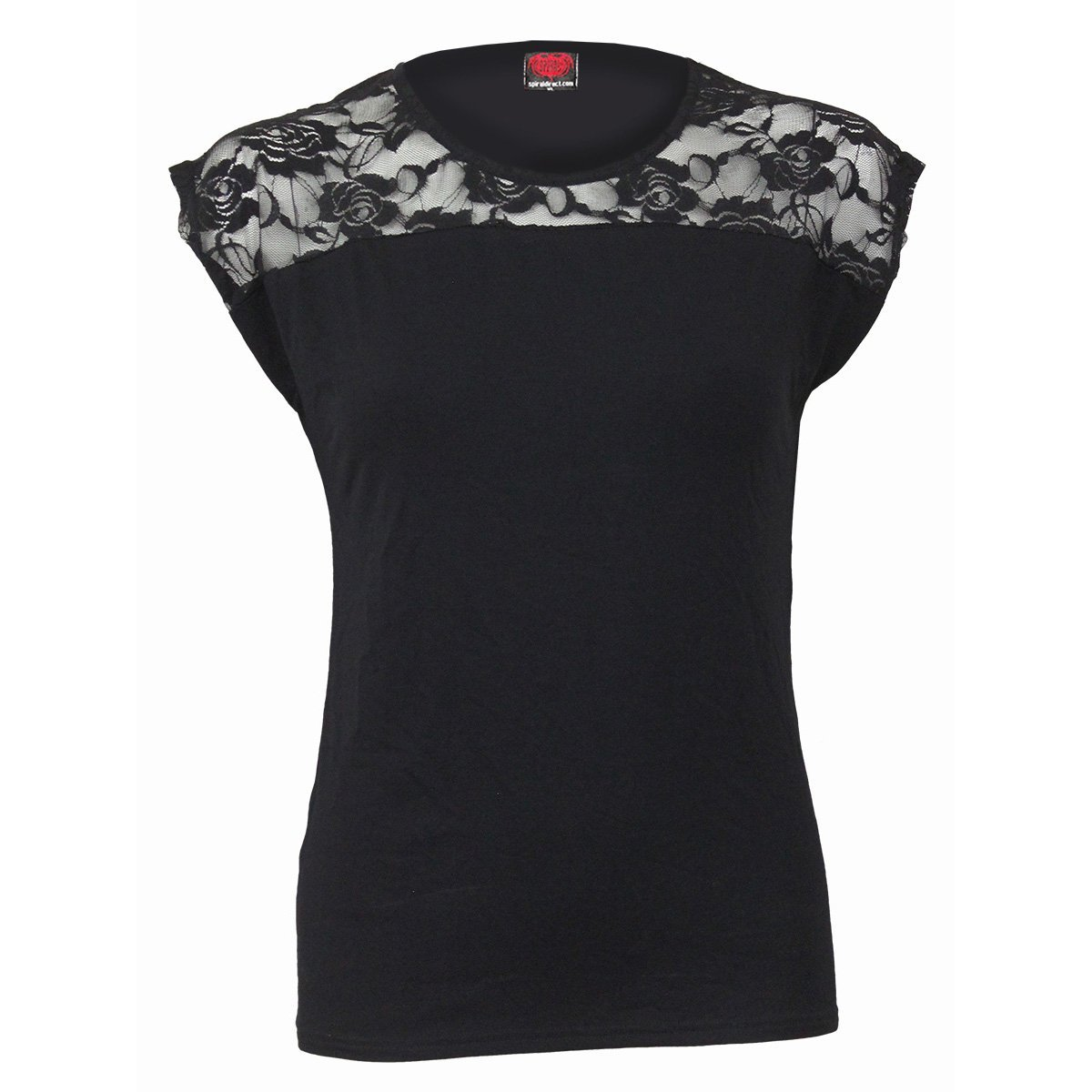 Urban Gothic Women's Lace Layered Black Top - Rebels Depot