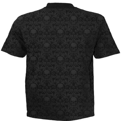 URBAN FASHION - Skull Scroll Impression Tshirt - Rebels Depot