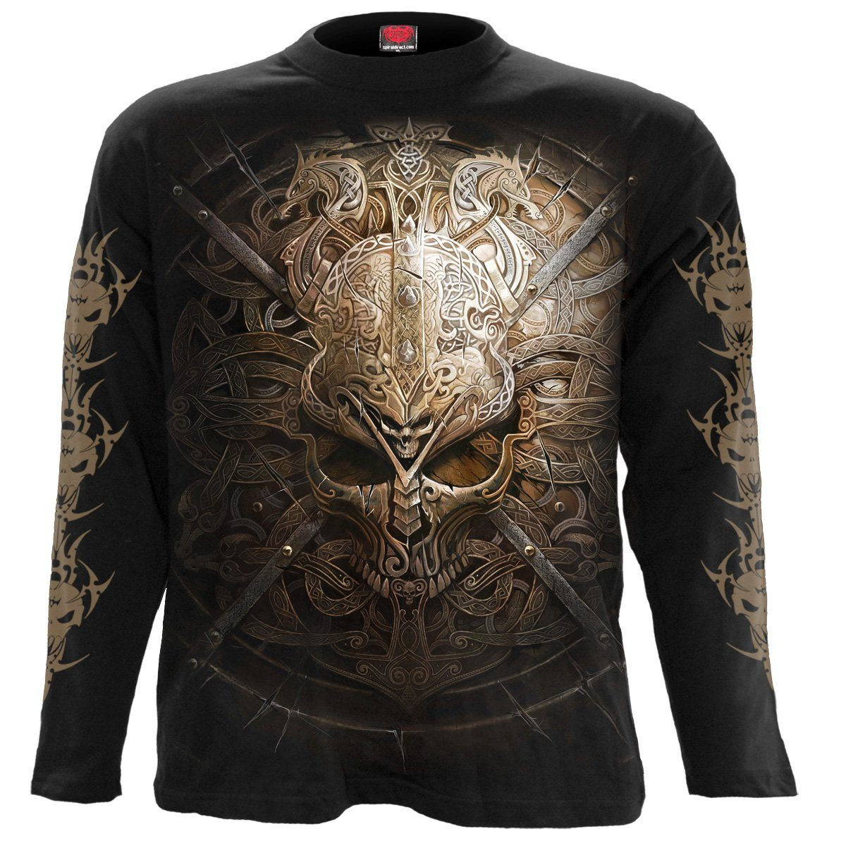Viking Warrior Shield Men's Black Longsleeve Shirt