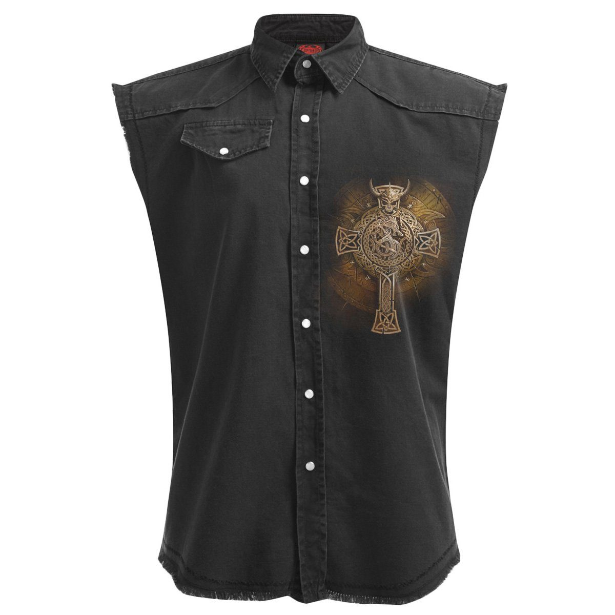 Viking Warrior Shield Men's Black Sleeveless Shirt