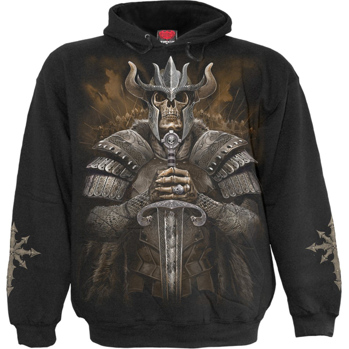 Viking Skull Warrior Black Hoodie