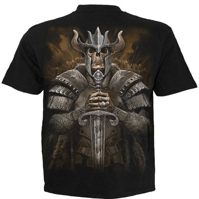 Viking Skull Warrior Men's Black T-Shirt - Rebels Depot