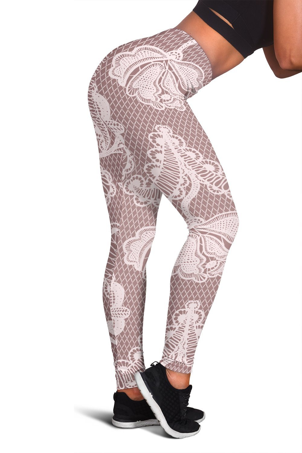 Vintage White Lace Womens Leggings