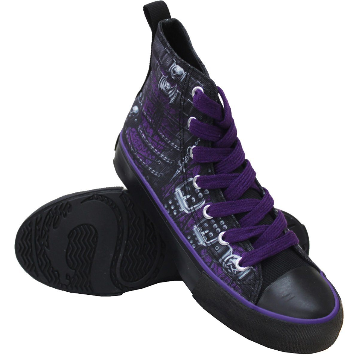 Gothic Corset Women's High-Top Sneakers - Rebels Depot