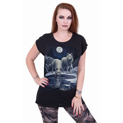 Wolf Warriors Women's Black T-Shirt - Rebels Depot