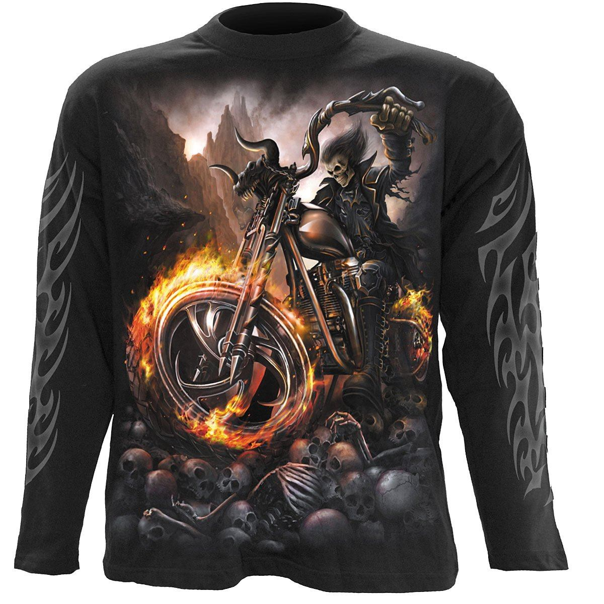 Demonic Biker Men's Black Longsleeve Shirt