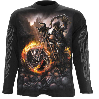 WHEELS OF FIRE - Biker Longsleeve Shirt - Rebels Depot
