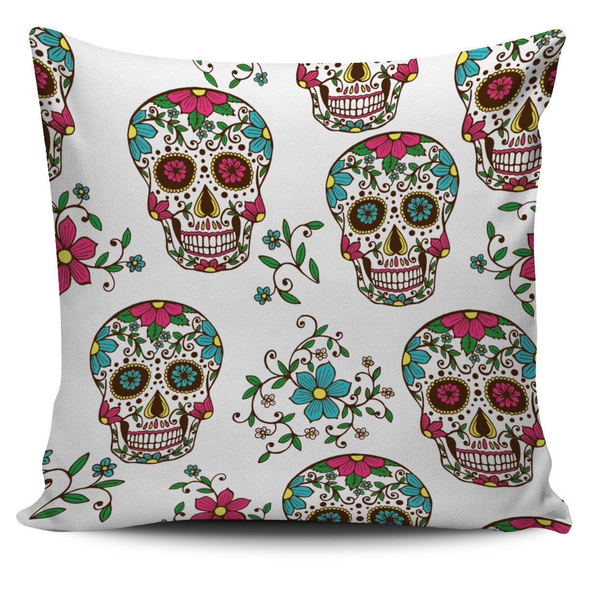 Sugar Skulls Print Pillow Cover