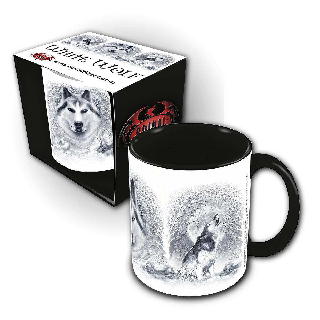 WHITE WOLF - Winter Forest Ceramic Mug - Rebels Depot
