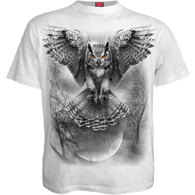 Majestic Hunting Owl Men's White T-Shirt - Rebels Depot