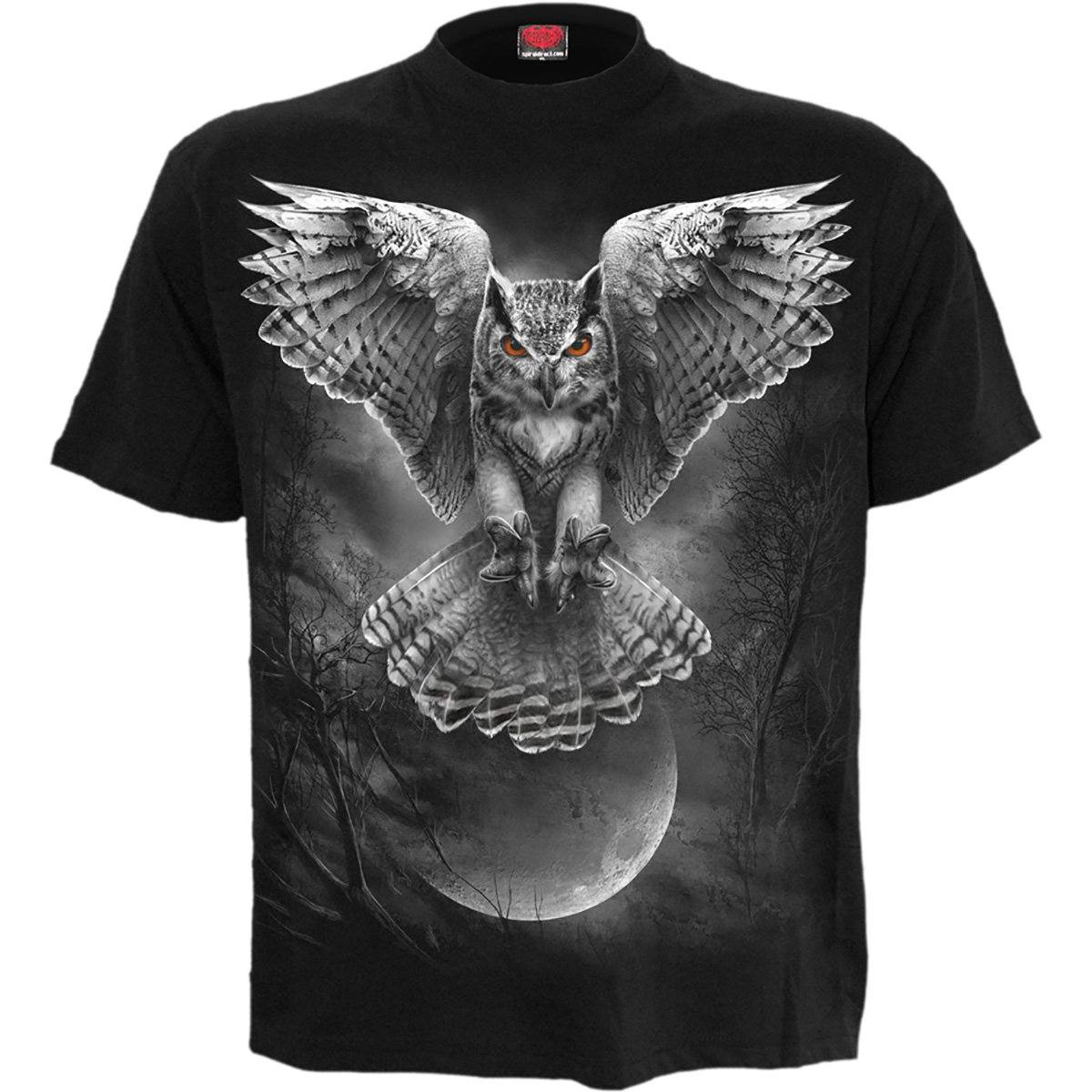 Majestic Hunting Owl Men's Black T-Shirt