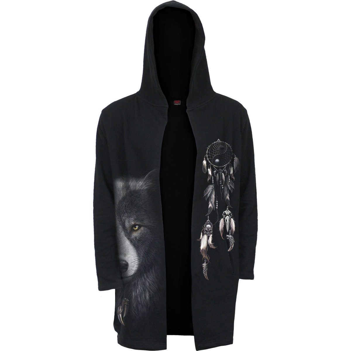 Wolf Spirit Hooded Cardigan