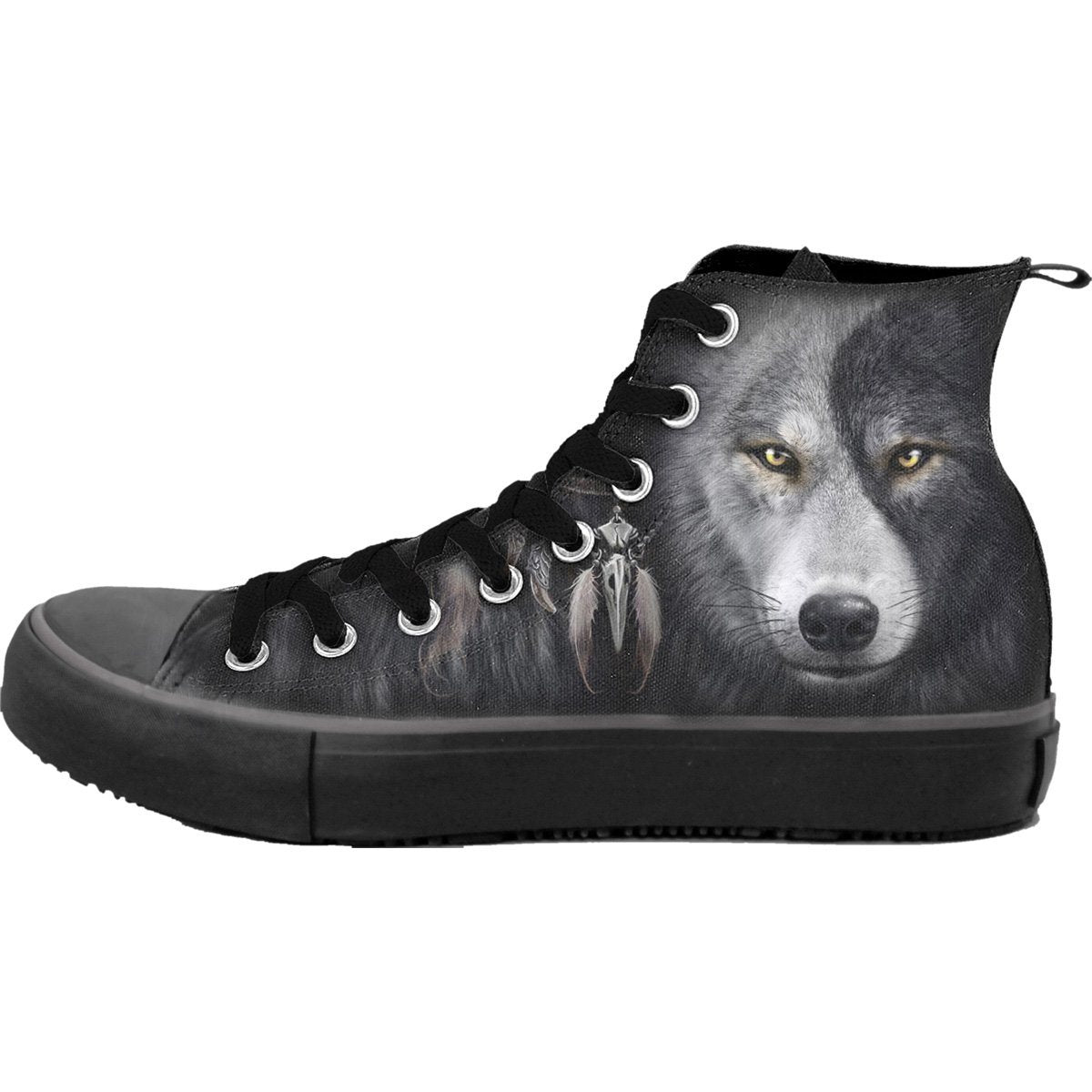 Wolf Spirit Men's High-Top Sneakers
