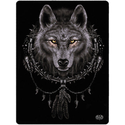 Wolf Dreamcatcher Fleece Blanket - Rebels Depot