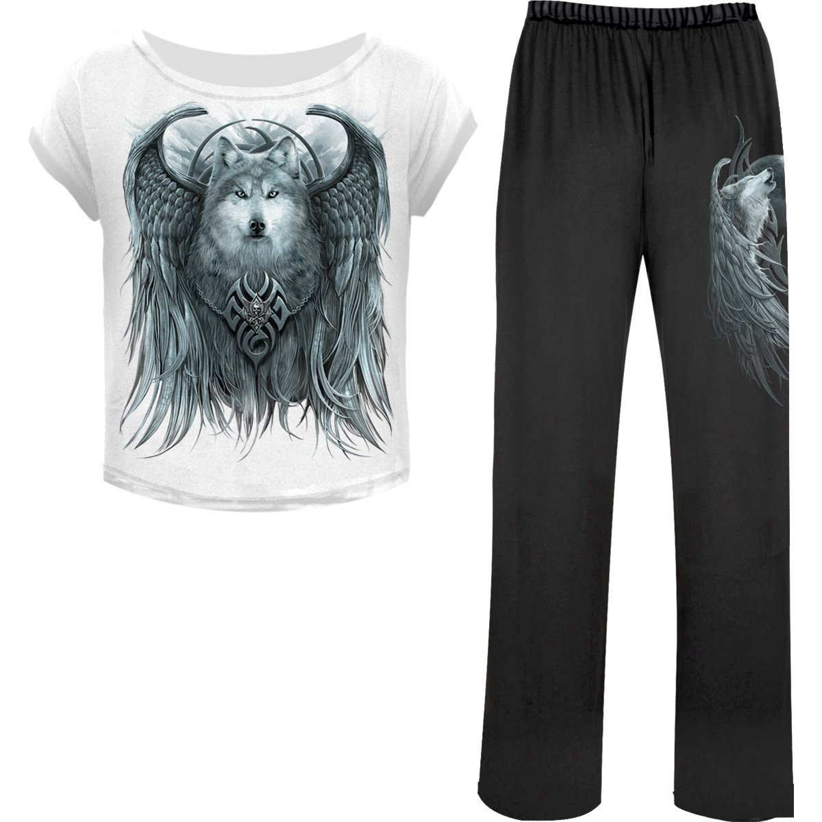 Howling Wolf Spirit Women's 4-Piece Pajama Set