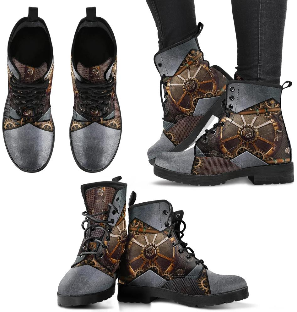 Women's Vintage Steampunk Leather Boots
