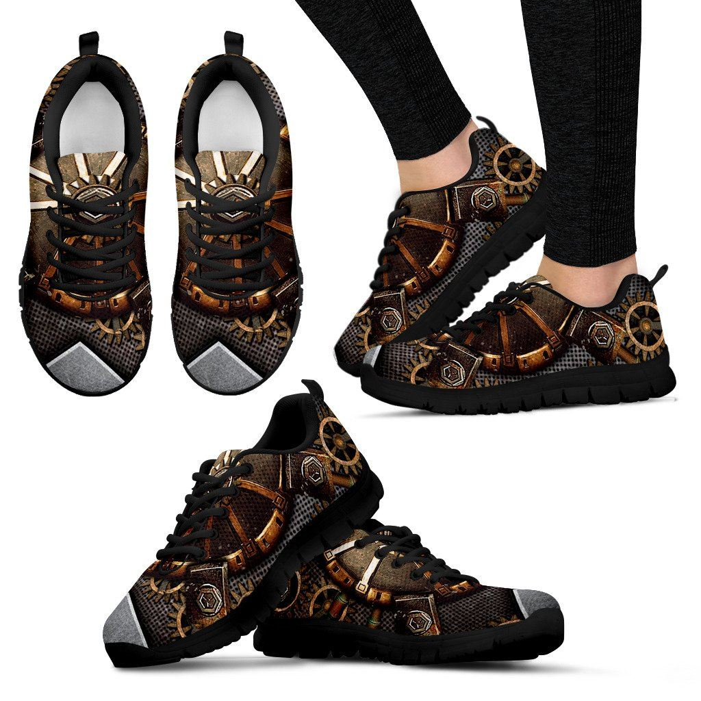 Women's Steampunk Gears Sneakers - Rebels Depot