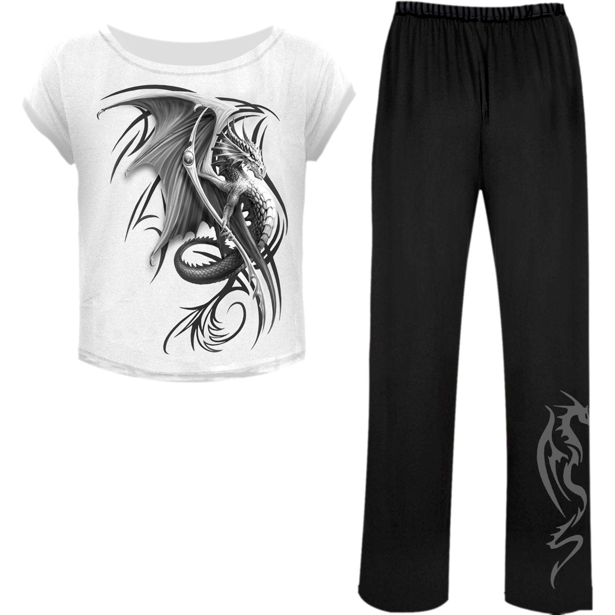 Tribal Dragon Women's 4-Piece Pajama Set