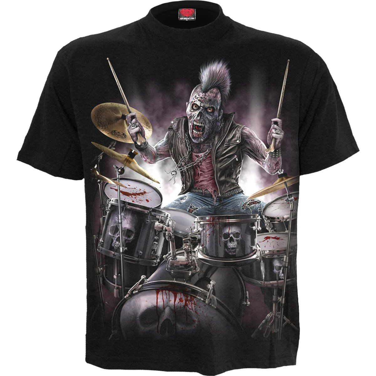 Zombie Drummer Men's Black T-Shirt