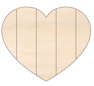 "Heart 2 - 18x15"" with 5 false pallet boards"