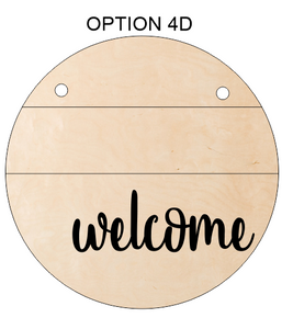 Welcome Door Hangers - Assorted Line Patterns