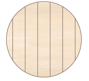 Clock Round with 7 False Pallet Boards