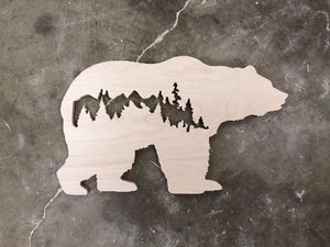 Bear with Tree Silhouette