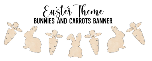 Easter Banner - Bunnies & Carrots