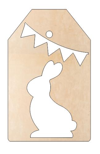 Bunny Banner on Hanging Tag