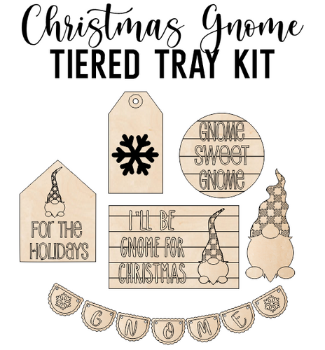 Gnome for the Holidays Theme - Tiered Tray Kit