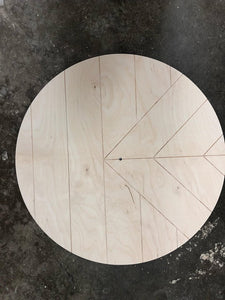 Clock Round - Chevron Point Design