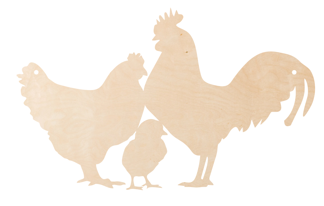 Chicken Family Door Hanger