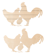 Load image into Gallery viewer, Chicken Family Door Hanger