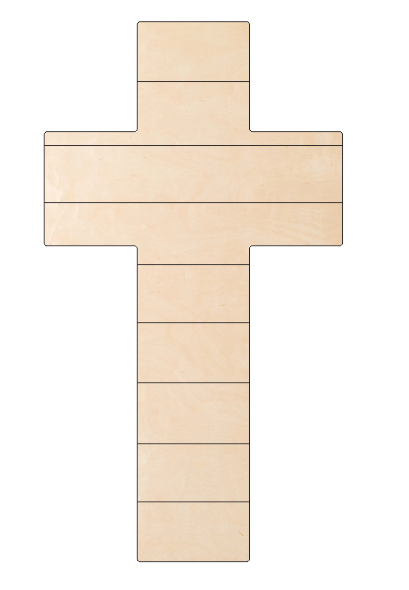 Cross with Pallet Lines