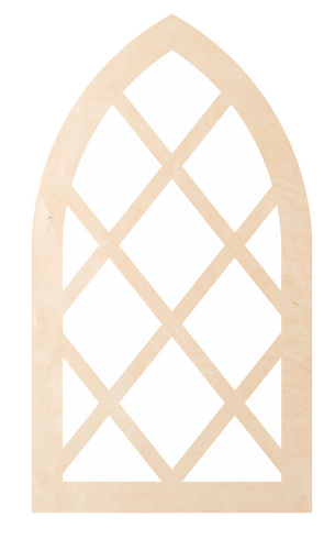 Window - Diamond Cathedral Pattern