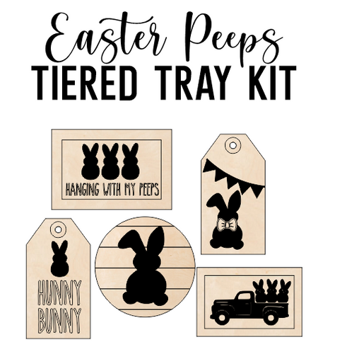 Easter Peep Theme - Tiered Tray Kit