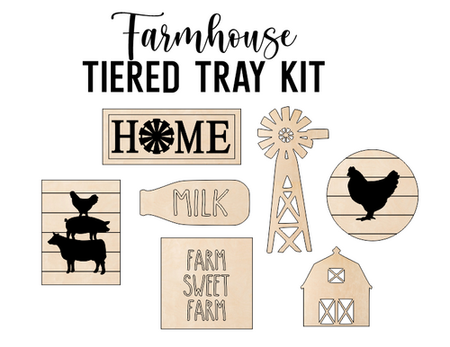 Farmhouse Theme - Tiered Tray Kit