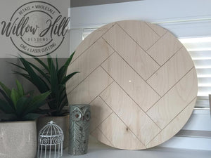 Clock Round - Double Herringbone Design