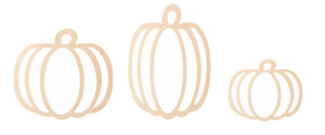 Hollow Style Pumpkins with Backer and Base