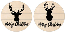 Load image into Gallery viewer, Merry Christmas Deer on Pallet Round