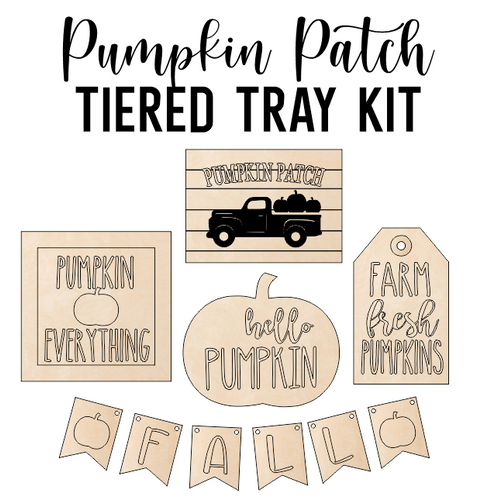 Pumpkin Patch Theme - Tiered Tray Kit