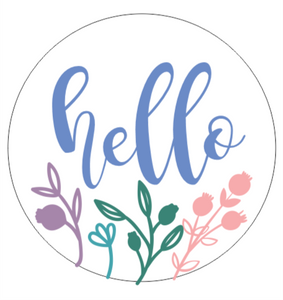 Floral Entry Signs - Hello / Welcome