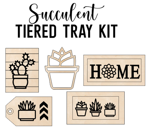 Succulent Theme - Tiered Tray Kit